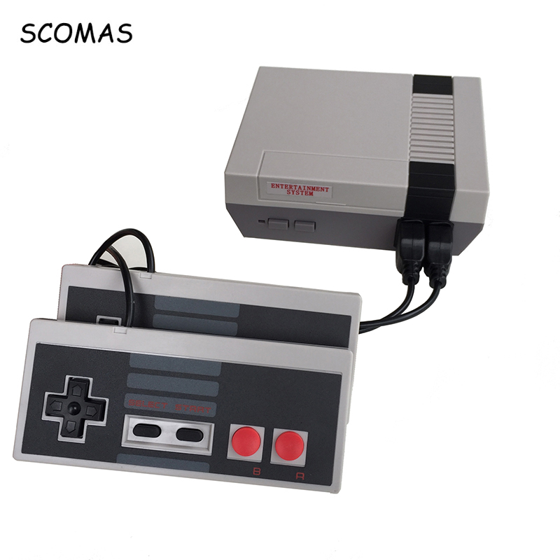 SCOMAS 8 Bits Classic Family Game Consoles System TV Video Mini Handheld Game Console For NES Game Player Built-In 620 Games клещи jtc 1344a