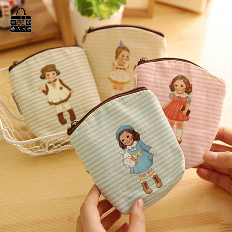 RoseDiary Canvas Coin Purses Zipper Female Women Girl Ladie students Coin Pouch Money Coin Case Bag Coin Change Purse Wallets