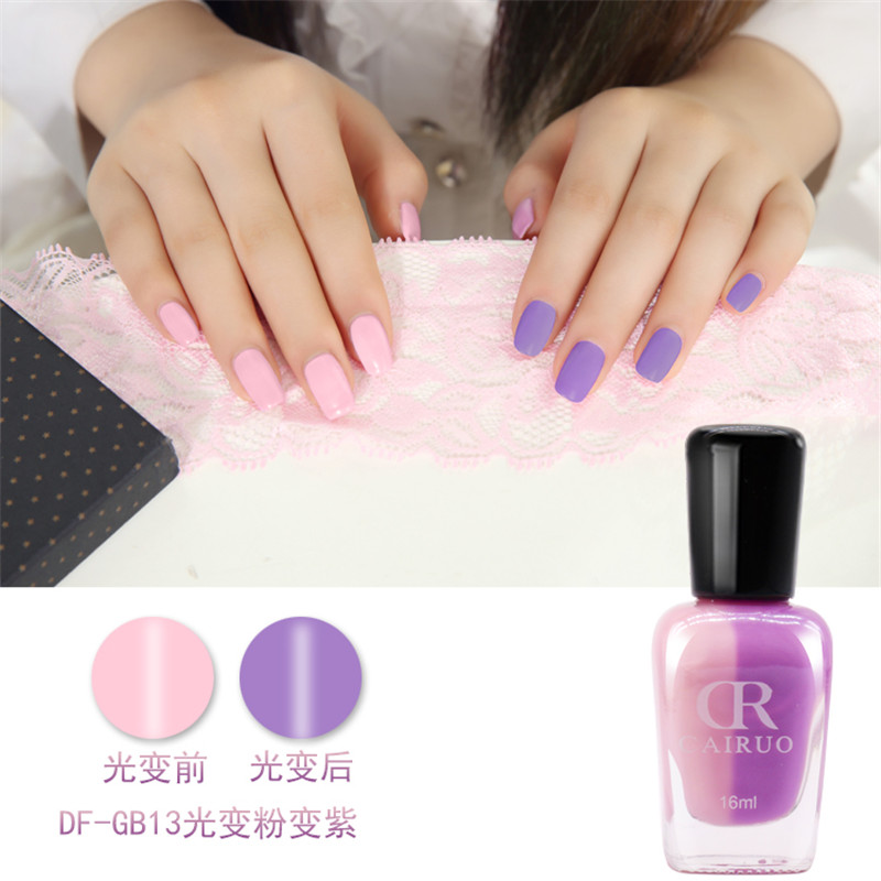 1Pcs Non toxic UV light discoloration nail polish Color Changing ...