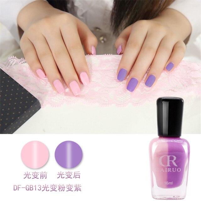 1pcs Non Toxic Uv Light Discoloration Nail Polish Color Changing