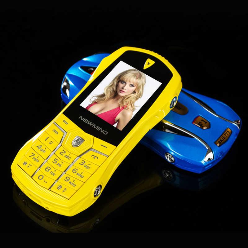 Newmind F1 + бар маленький размер серфинга в Интернете голосового набора с MP3 камера шок gsm машина ключ модель мини мобильного телефона