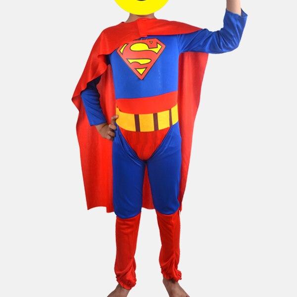 7c90c8d2a Frete grátis traje de Halloween Superman traje para os meninos e meninas  Superman capa Cosplay Superman traje Crianças