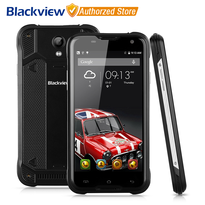 Цена за Blackview bv5000 мобильный телефон 5 дюймов hd mtk6735 quad core android 6.0 2 ГБ RAM 16 ГБ ROM 8MP Cam Водонепроницаемый IP67 4 Г Смартфон