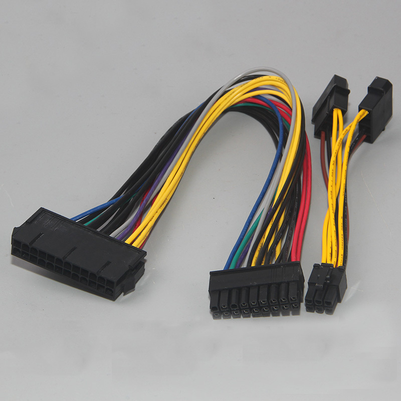 ATX <font><b>24Pin</b></font> Female to 18Pin Male + Dual Molex to 6Pin <font><b>Adapter</b></font> Power Cable 18AWG for HP Z600 Motherboard Workstation image
