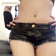 Hot Marketing Mini Shorts 1PC Sexy Womens Camouflage Jeans Short Shorts Hot Denim Low Waist Shorts Jul10 Drop Shipping