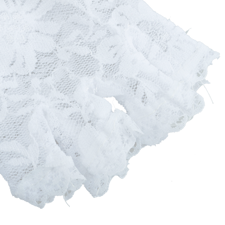 Nueva elegante blanco corto sin dedos Encaje Guantes lujo French ...