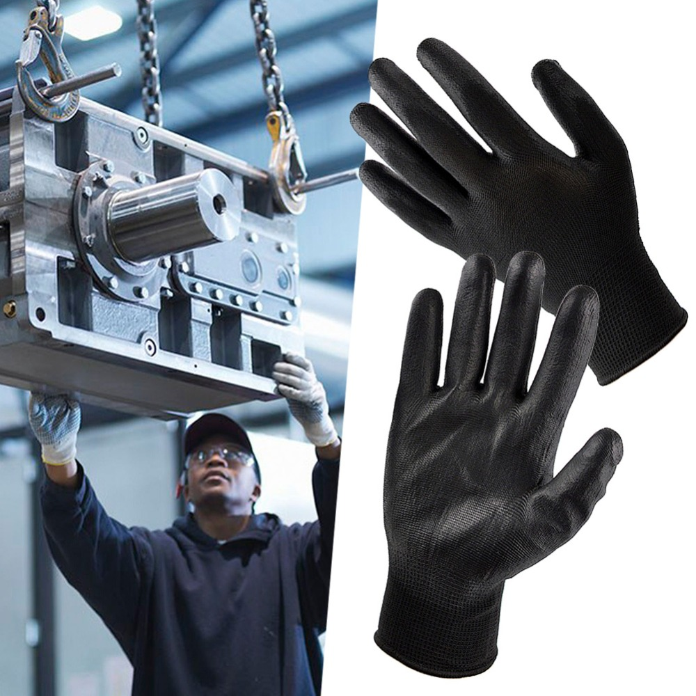 One Pair Nylon PU Static-free Safety Work Gloves Builders Grip Palm Coating Gloves Working Gloves One Pair Nylon PU Static-free Safety Work Gloves Builders Grip Palm Coating Gloves Working Gloves