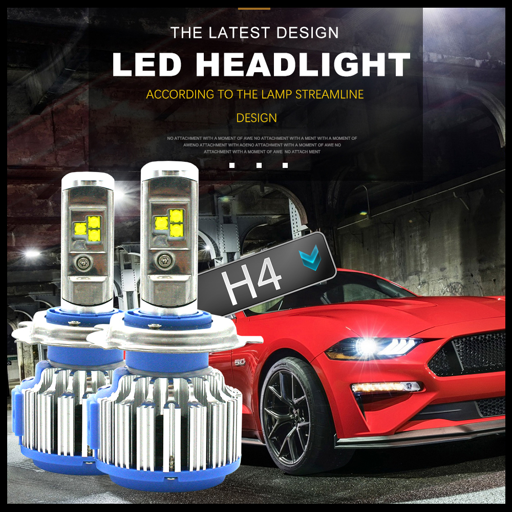 T1 H4 Led Car Headlights H7 LED H1 H3 H11 880 H13 9005 9006 9007 9004 80W 70W 7000lm Auto Front Bulb Automobiles Headlamp 6000K