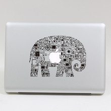 Removable DIY fashion big size cute assembly Elephant tablet sticker laptop computer sticker for laptop,205*270mm