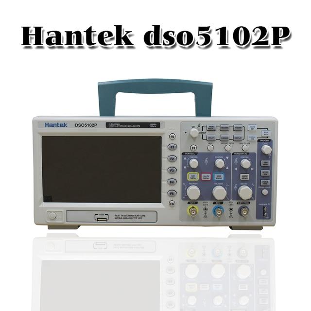 H antek Dso5102pดิจิตอลจัดเก็บO Scilloscope 100เมกะเฮิร์ตซ์2 c hannels 1gsa/s 7 Tft Lcdดีกว่าAds1102cal +