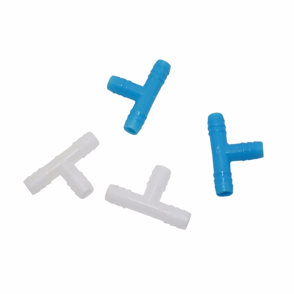 50 Pcs 8mm Barbed Tee Connector Irrigation Systems Parts For 8 Mm Hose Of Garden Watering System Gree House