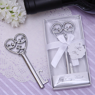 Key to My Heart Victorian Wine Bottle Opener Wedding Party Bridal Shower Favor Guest Gift Business