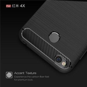 Image 3 - Für Xiaomi Redmi 4X Fall Stoßstange Anti knock Weiche TPU Silicon Abdeckung Carbon Fiber Rüstung Fall Abdeckung Für Xiaomi redmi 4X Pro