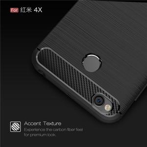 Image 3 - For Xiaomi Redmi 4X Case Bumper Anti knock Soft TPU Silicon Cover Carbon Fiber Armor Case Cover For Xiaomi Redmi 4X Pro