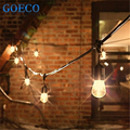 New! 48Ft(14.8M) Outdoor Vintage String Light with 15 Incandescent 5W E27 Clear Bulbs Black plug-in Cord Globe light String Set