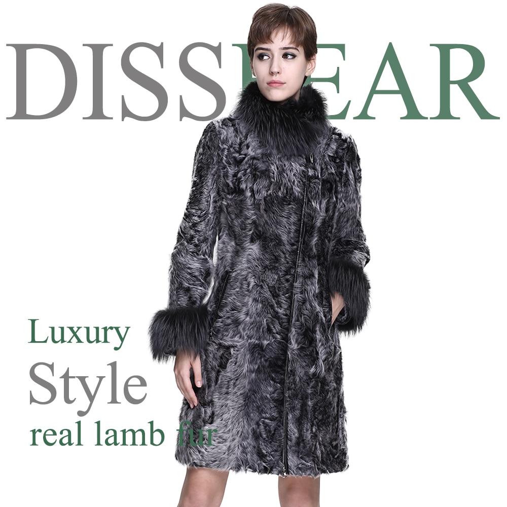 muy agradable sin impuesto de venta busca lo último Abrigo de piel de cordero para mujer, chaqueta de piel de zorro Natural,  abrigo de piel de oveja ...