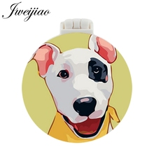 JWEIJIAO Dogo Beagle black poodle blenheim sheepdog pug bulldog Pocket Mirror With Massage Comb Folding Makeup Vanity Mirrors
