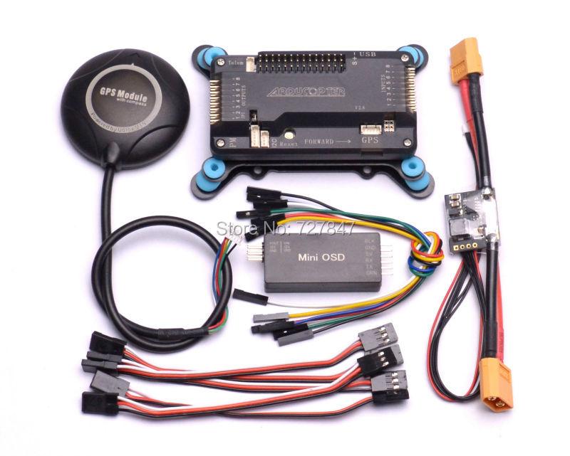 APM2.6+ NEO N8N GPS Compass + APM Shock Absorber + APM Power Module + Minim OSD v1.1 Better Than 7M minim osd v2 0 on screen display apm osd