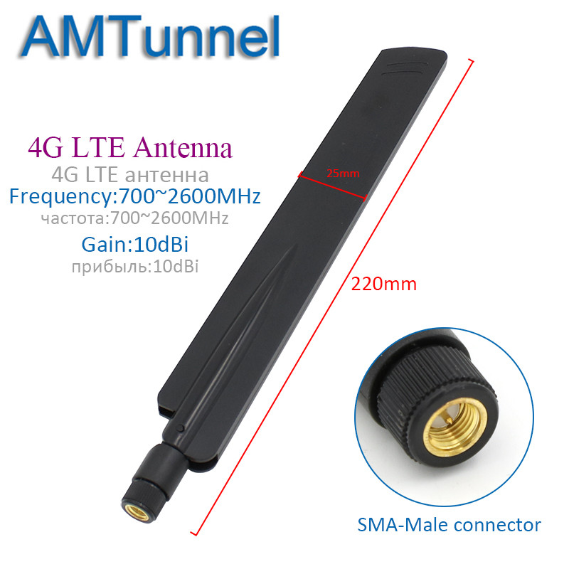 4G Antenna WiFi Antenna 10dBi 3G 2.4GHz Antenna SMA Male For Huawei B315 3G 4G Router Modem