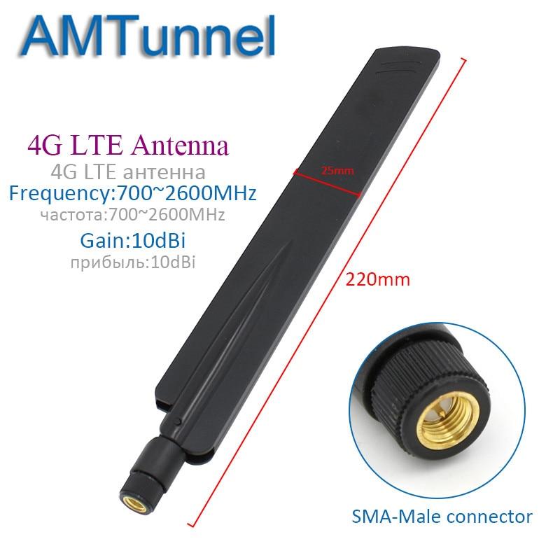 4G Antenna WiFi Antenna 10dBi 3G 2.4GHz Antenna SMA Male For Huawei B315 3G 4G Router Modem