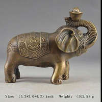 56011++Manual hammer brass auspicious peace elephant statue in China