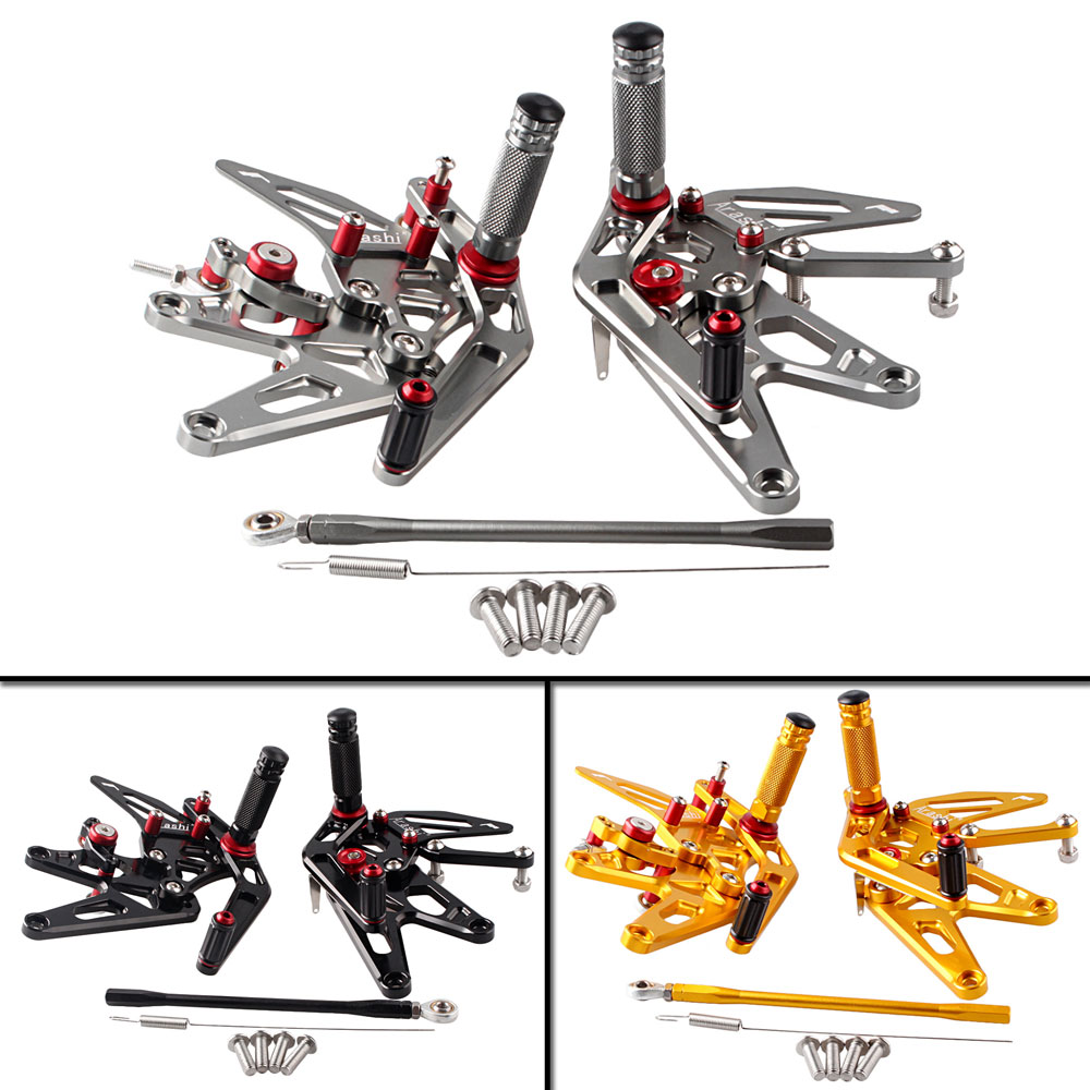 Motorcycle Adjustable Rear Set Footrests Foot Pegs Assembly For Yamaha YZF R1 2004-2006 Spare Parts unpainted motorcycle tail rear fairing parts for yamaha 2004 2005 2006 yzf r1 abs plastic