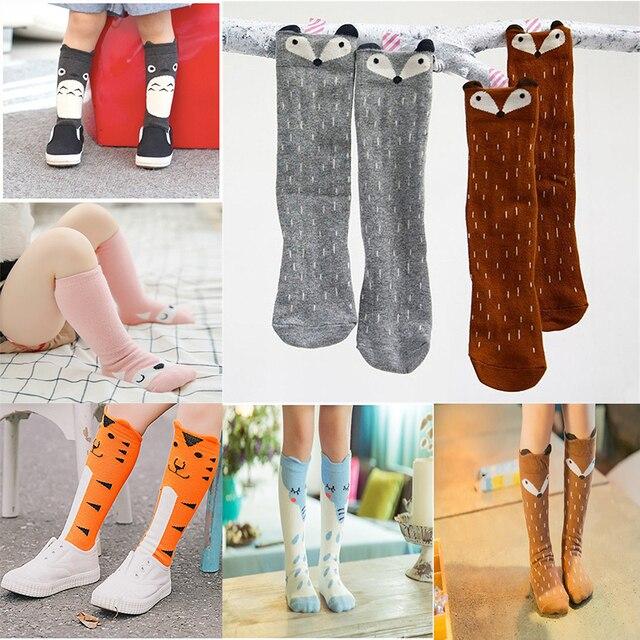 11ce55b34 Baby Girls Knee High Socks Kids Children Cute Lace Bows Princess leg  Warmers Solid Cotton Girl Long Tube White Socks 1-3years