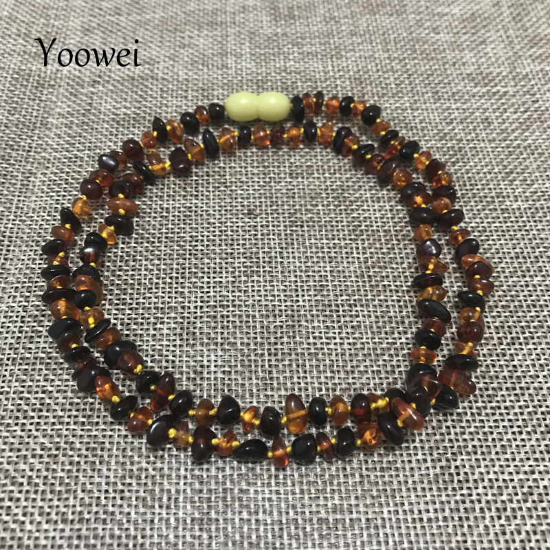 Yoowei 60cm Natural Amber Necklace for Women Genuine Baltic Irregular Origin Amber Chip Layered Bracelet Collar Jewelry Supplier