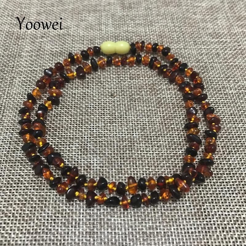 Yoowei 60cm Natural Amber Necklace for Women Genuine Baltic Irregular Origin Amber Chip Layered Bracelet Collar Jewelry Supplier стоимость