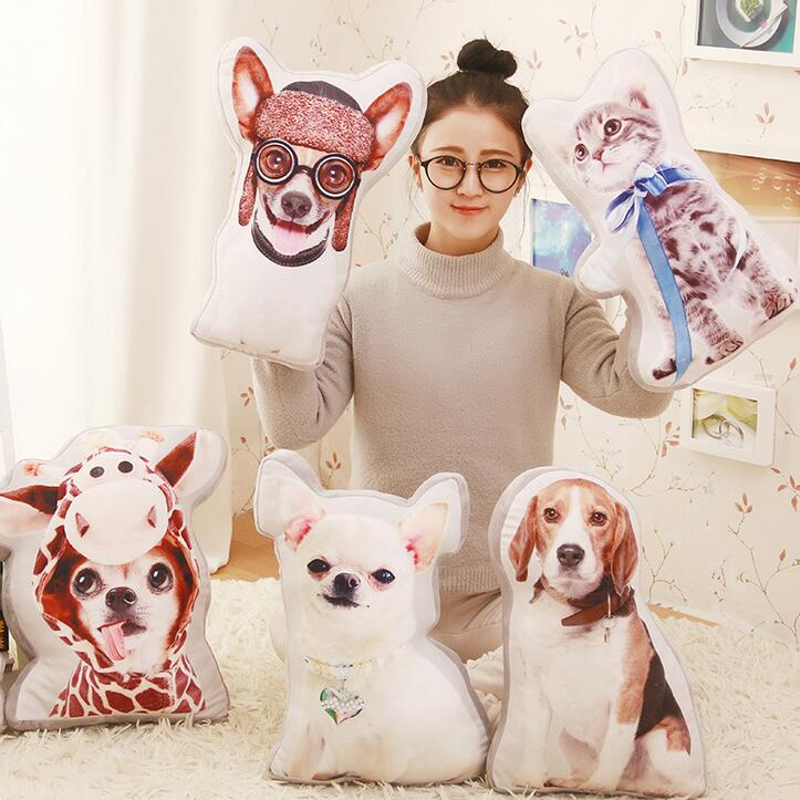 1pc 40cm Cartoon Simulation Dogs and Cat Plush Pillow Staffed Nap Pillow Big Soft Cushion Kids Toys Dolls Brinquedos