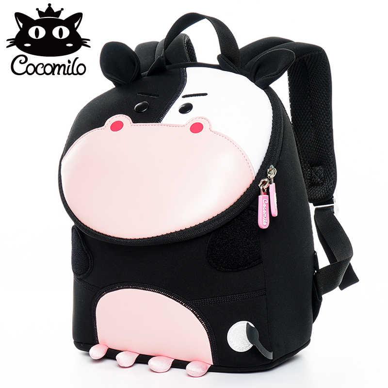 Новая 3D детская сумка рюкзак для девочек мальчиков маленькие сумки Корова Единорог детский сад рюкзак анти-потеря школьная сумка Mochila Escolar