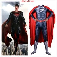 Anime Cartoon Superman Man of Steel Cosplay Costume Clark Kent Superhero Kids Adult Jumpsuit Bodysuit Zentai Customize Suit New