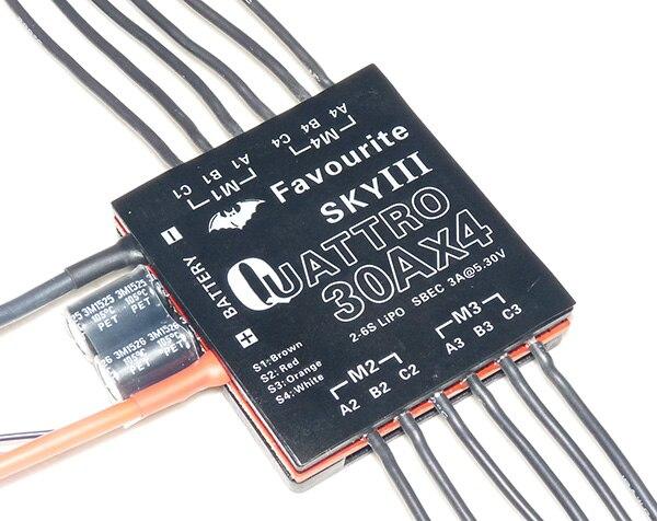 Любимые орел серии Quattro 30A x4 Электрический Скорость контроллер/ESC для RC multi-роторов ...
