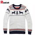 Inverno Novo Homem Moda Marca Cervos Knitting Natal Camisola do Pulôver Men Manga Comprida Slim Fit Camisolas O Pescoço Jumper Pull Homme
