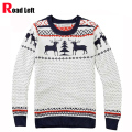 Winter New Fashion Man Brand Deer Knitting Christmas Sweater Pullover Men Long Sleeve Slim Fit Sweaters O-Neck Jumper Pull Homme