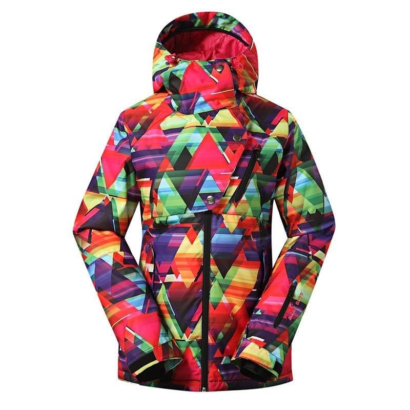 GSOU SNOW Marca Chaqueta de Nieve Para Mujer Chaqueta de Snowboard  Impermeable Deporte Colorido Ropa de Esquí de Invierno Al Aire Libre Traje  Esquí Mujer 72917b941f9