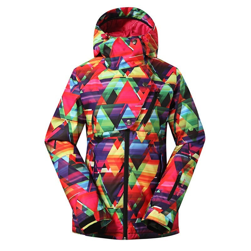 Gsou Snow Brand Ski Jacket Women Snowboard Jacket Waterproof Colorful Female Winter Snow Clothes Outdoor Skiing Suit Sport Coat цена