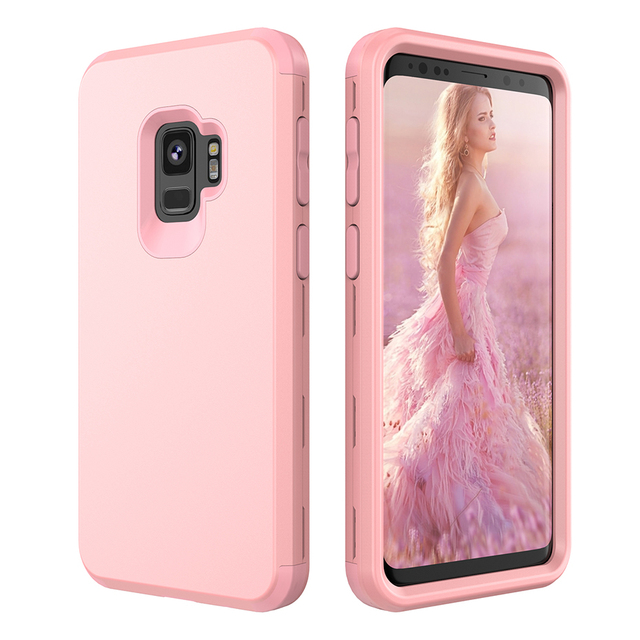 US $4 99 20% OFF|Shockproof Case for Samsung Galaxy S9 Plus Luxury Heavy  Duty Protection Soft Silicone Hard Case Cover for Samsung Galaxy S9 Plus-in