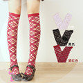 Princess classic Lolita stocking HARAJUKU over-the-knee original cross glass soks summer Black cross straps stockings LKW301