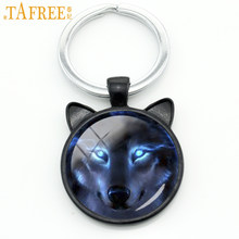 TAFREE New trendy Nordic Wic Wolf keychain novelty animal cool wolf key chain ring holder gifts for men keyring jewelry CN758(China)