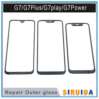 Lente de Cristal de pantalla exterior delantera para móvil, reemplazo de cubierta de pantalla táctil LCD para Motorola Moto G7 Plus G7 Power G7 Play XT1955 XT1962, 10 Uds.