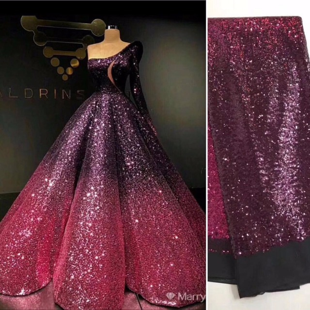 36f8e056b4 SuperKimJo Vestido De Festa 2018 Ball Gown Prom Dresses One Shoulder  Gradient Sequin Luxury Prom Gowns