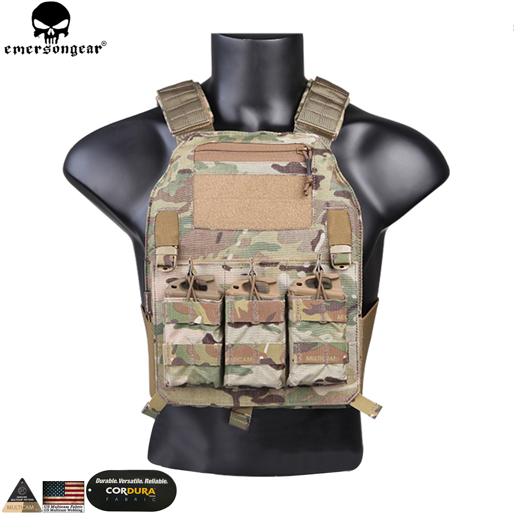 Emerson Hunting Vest 419 PLate Carrier Combat Paintball Protective Emersongear Tactical Vest Multicam EM7376