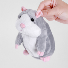 Enjoybay Cute Talking Hamster Plush Toys Electronic Speak Pets Talk Sound Record Repeat Plush Toy Funny Educational Toy for Kids