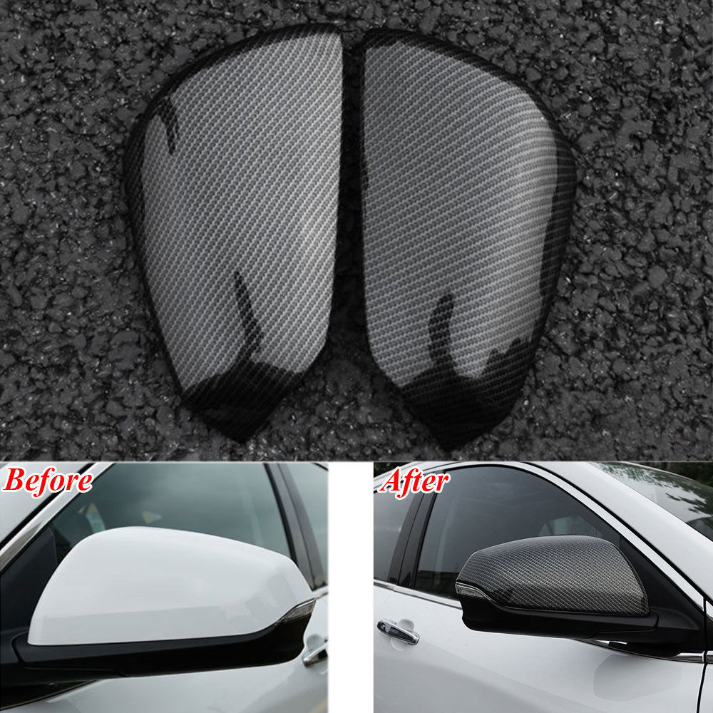 BBQ@Fuka For Chevrolet Equinox 2017+ Car Rearview Mirror Cover Trim Carbon Fiber Style Car accessories Automobiles accessory
