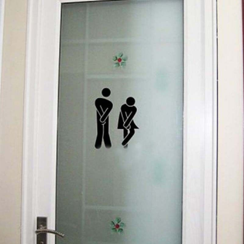 Funny Toilet Door Sign Sticker Door Sticker Door Decal Bathroom Door Decoration-in Wall Stickers from Home u0026 Garden on Aliexpress.com   Alibaba Group & Funny Toilet Door Sign Sticker Door Sticker Door Decal Bathroom Door ...