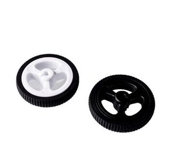 1pcs 3PI MiniQ Wheel For N20 DC Gear Motor Rubber Wheel Diameter 34mm Code Disk 34*7 DIY RC Toy Remote Control Car Chassis Pa image