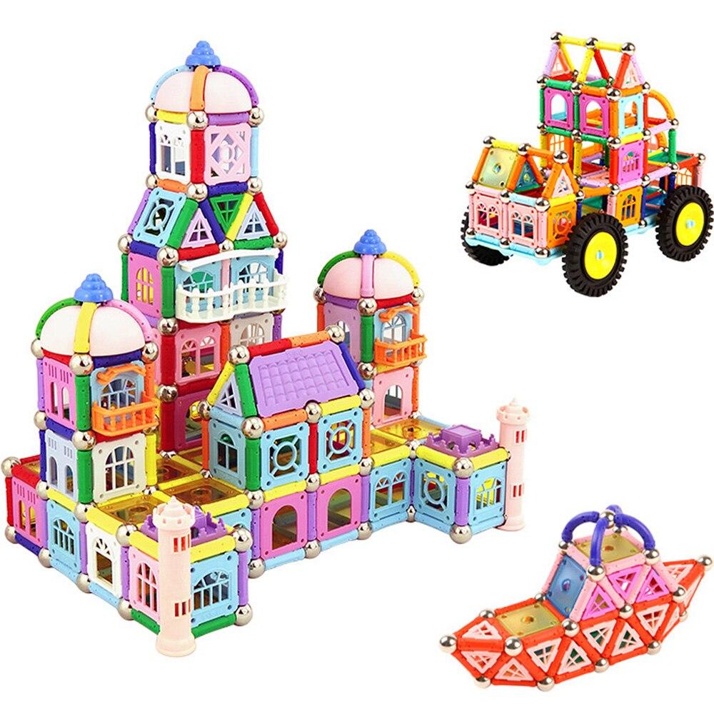 518 pièces Aimant Barres billes de métal Magnétique Designer Château Construction blocs de Construction jouets éducatifs pour Enfants Cadeau