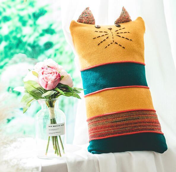 Новый вязать Чехлы акрил с рисунком милого кота диван дома номер текстильной взрослый ребенок любитель красоты декабря Оптовая FG906