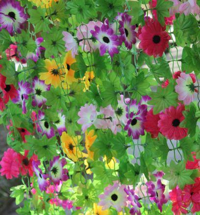 Small Sunflower Rattails Plants Artificial Flower Vine Hanging Vines